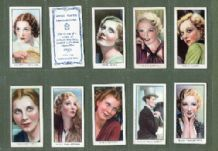 cigarette cards set Film Stars / World Famous Cinema Artistes 19